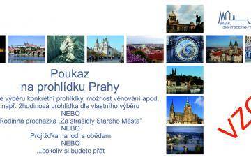 Poukázka na prohlídku Prahy - vzor