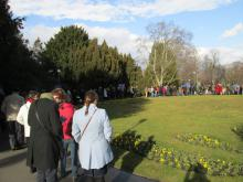 Předjaří v Královské zahradě - fronta