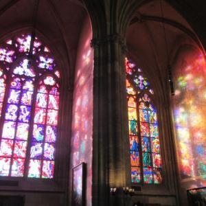 Stain-glass windows of St. Vitus Cathedral