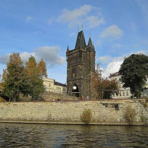 Charles Bridge from Vltava River