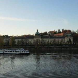 Seat of Czech government ar river bank