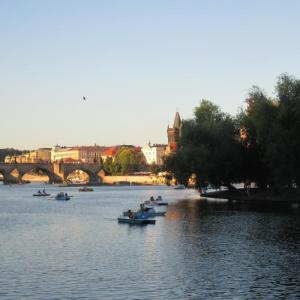 Charles Bridge and Strelecky island